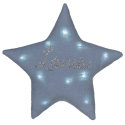 Veilleuse Etoile Lin Bleu gris