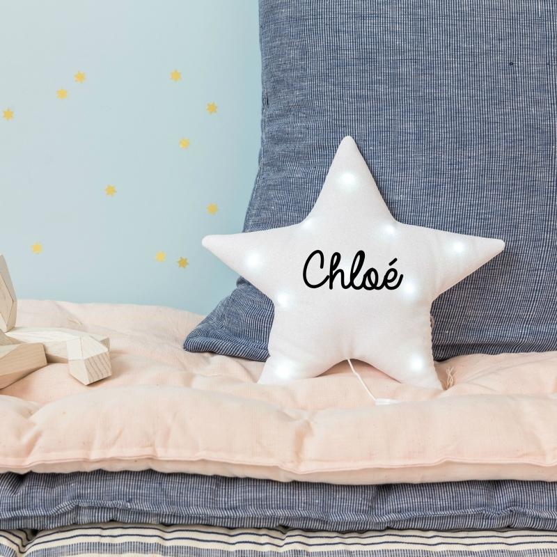 Veileuse étoile paillettes blanches