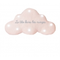 Veilleuse musicale nuage paillettes blanches