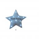 Veilleuse Musicale étoile paillettes bleues